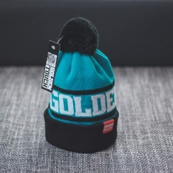 Golden Touch beanie blue