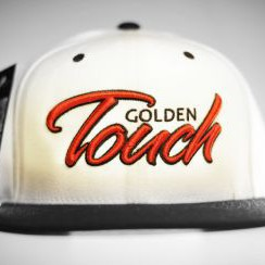 Golden Touch snapback white