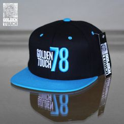 Golden Touch snapback neon blue black